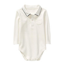 Plain baby boy polo baby bodysuit