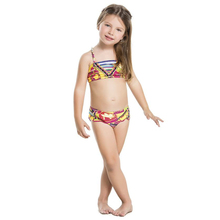 Wholesale cheap one pieces ruffle printing sling kids swimwear