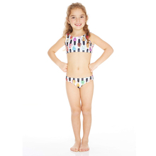 Wholesale kid swimwear girls waves bathing suit