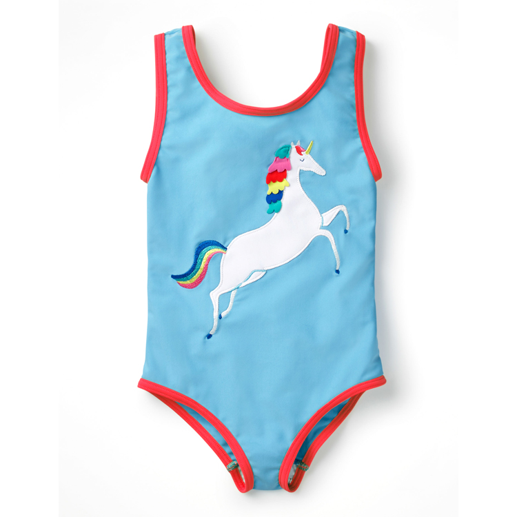 Fashionable colourful custom print kids swimwear