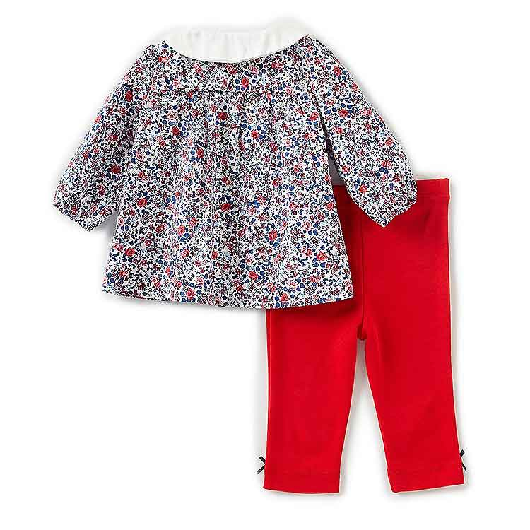 Cheap baby girls floral printed tunic leggings set