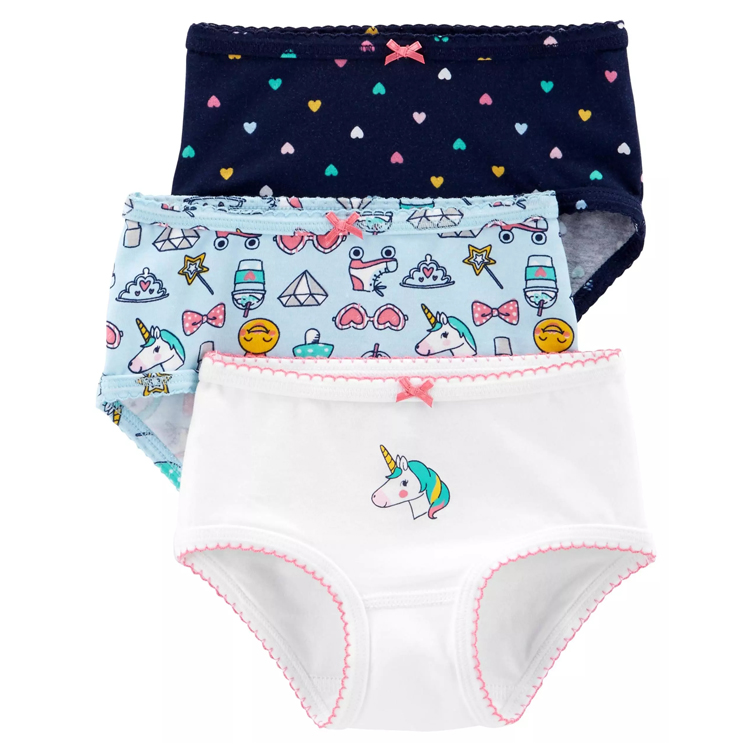 Wholesale cheap price girls briefs with elastic leg and kids underwear