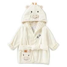 Baby newborn giraffe hooded bath robe