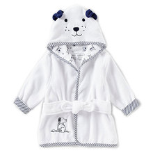 Cheap baby newborn puppy hooded bath robe