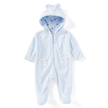 Cheap long sleeve baby bear face plush pajamas