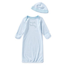 Factory outlets newborn little boys gown  hat set