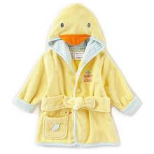 Special offer baby duck hooded bathrobe