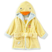 Hooded Fleece Baby Bathrobe Cute Children's Sleepwear For baby