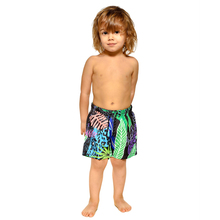 Leaves Pattern Matching Family Look Swimwear Swimming Beach Shorts for Men and Boys