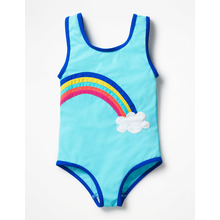 One piece new cute young girl bikini kids brands swimwear