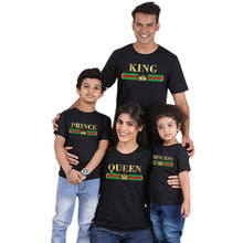 King And Queen Prince & Princess Matching T Shirts Family T Shirts Couple Shirts Summer Tops
