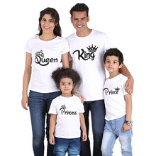 King and Queen Love Family Prince and Princess Matching t shirts
