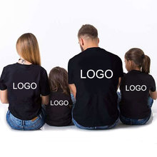 Set of 4 Short Casual T shirts Clothes Outfits Matching Design For Families