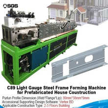 Customized Light gauge steel framing cold roll forming machine China manufacturer