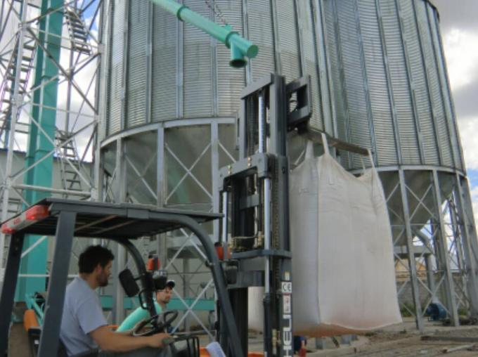 5-1. Commissioning of the corn maize steel grain storage silos