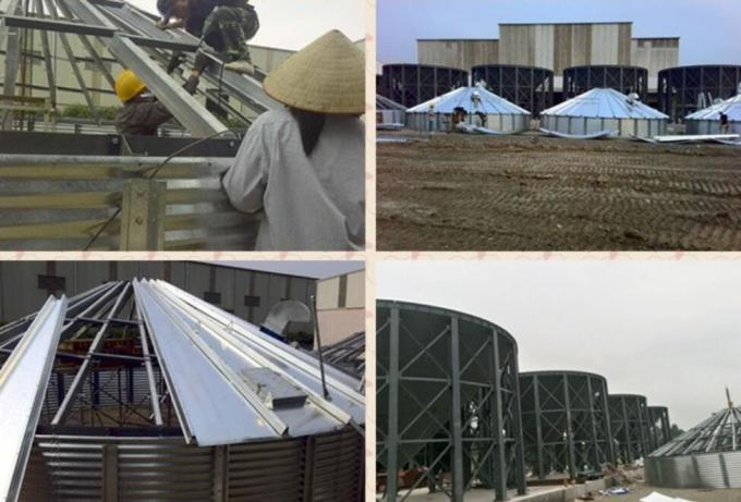 4-1. Oversea installation and supervision corn maize steel grain storage silos.