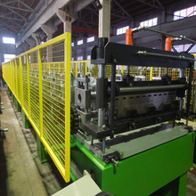 Gearbox Drive Metal Deck Roll Forming Machine PLC Control