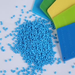 ABS pellets filler plastic material blue color masterbatch granules