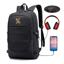 Anti Theft Water Resistant Travel Bag with USB Charging Port Business Laptop Backpack