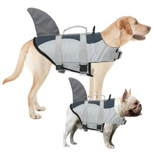 Pet Safety Vest Adjustable Dog Lifesaver Pet Life Preserver with Rescue Handle Dog Life Jacket