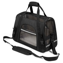 Portable Pet Carrier Bag Airline Approved Travel Carring Bag Soft-Sided Pet Traveling Bag