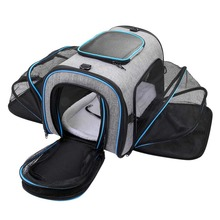 Expandable Pet bag Airline Approved Soft Sided Pet Travel Carrier