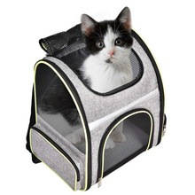 Airline Approved Ventilated Pet Backpack Hiking Camping with Soft Carpet & Side Pet Carrier Backpack