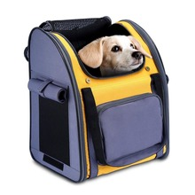 Travel Carrier Bag Soft Sided Foldable Curtain Top Design for Hiking Outdoor Pet Backpack