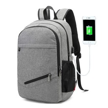 Water Resistant College Computer Bag with USB Charging Port Business Laptop Backpack