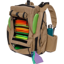 Disc golf backpack seat and cooler 25 disc capacity