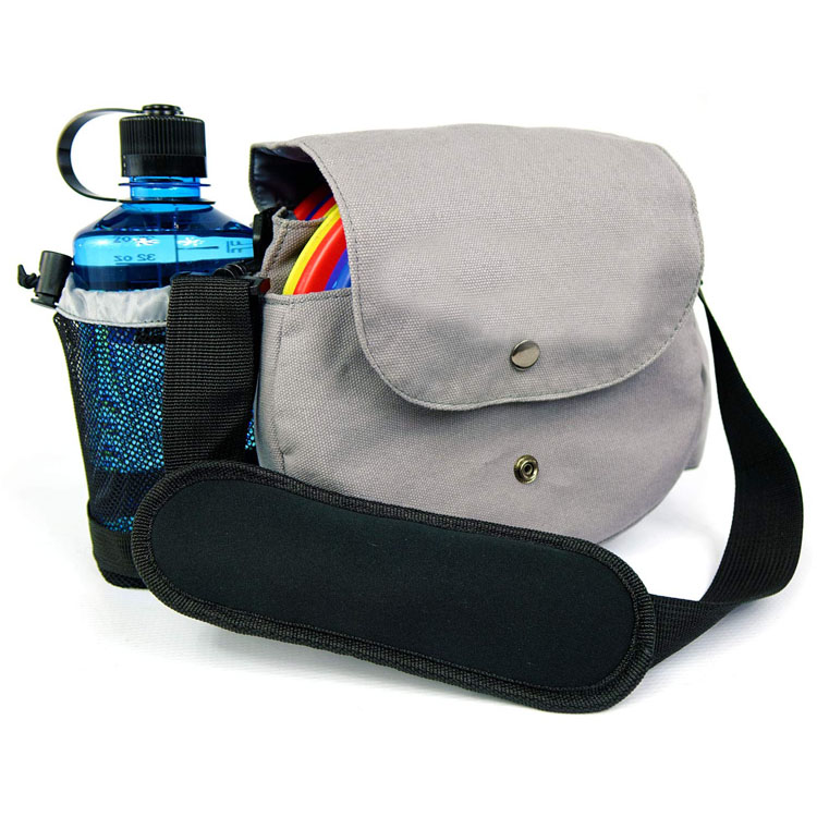 China supplier portable durable canvas disc golf sling bag