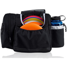Disc golf bag tote bag for frisbee golf holds water bottle and accessories