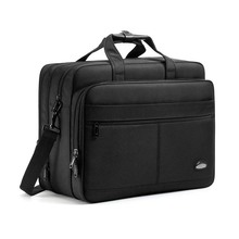 Water resisatant shoulder messenger bag expandable high capacity business laptop briefcase