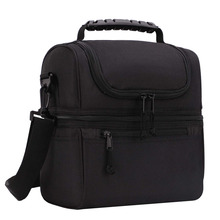 2 Compartment Lunch Bag for Men Women Leakproof Insulated Cooler Bag for Work