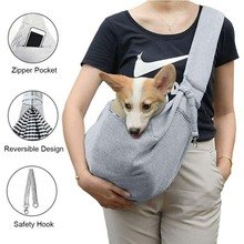 Lightweight small dog cat carrier portable sling front pack travel purse puppy shoulder pet bag