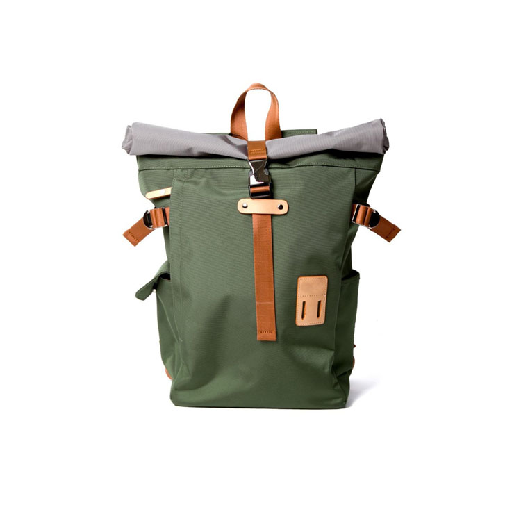 School travel rolltop backpack
