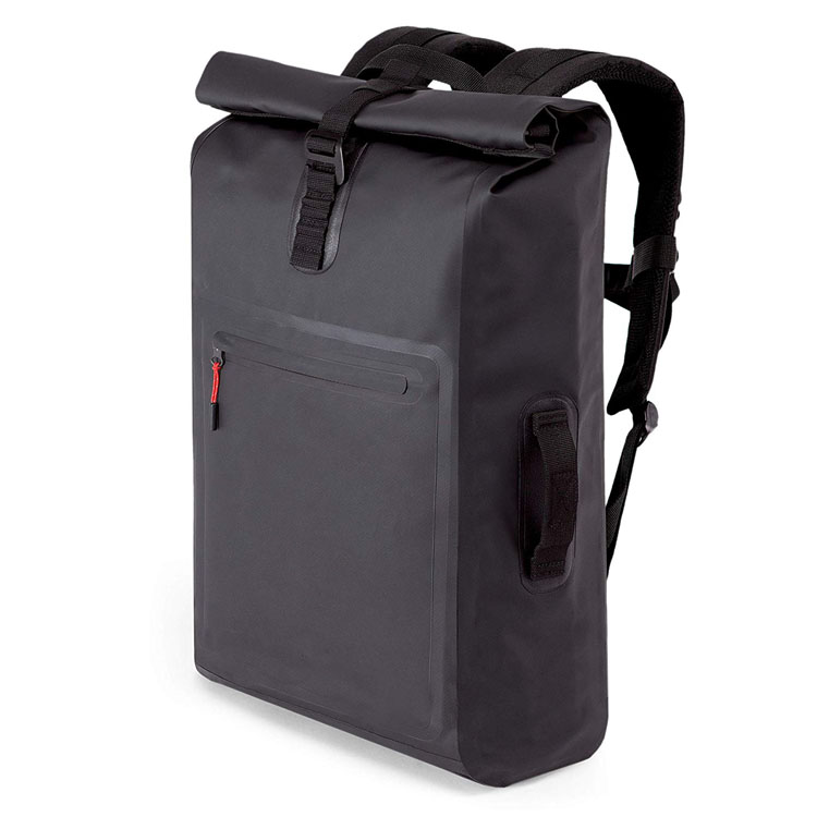 Rolltop messenger courier backpack made of robust truck tarpaulin