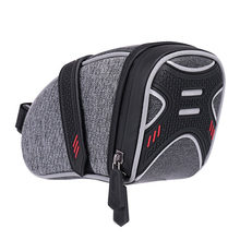 Strap on bike saddle bag bicycle seat bag cycling wedge storage bag reflective stripes