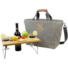 Insulated cooler tote pack portable wine carrier bag picnic cooler wine bag