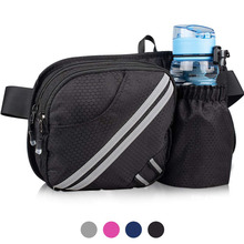 Sport hiking fanny pack waist bag with water bottle holder