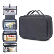 Hanging travel toiletry bag for women and men