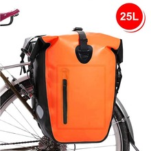 Bike Pannier Pack Extensible Water Resistant Bicycle Rear Seat Bag Riding Shoulder Bag Cycling Saddle Bag