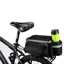 Durable Bike Pannier Bag Water Resistant Handbag Rack Rear Trunk Tote Bag Bicycle Frame Bag
