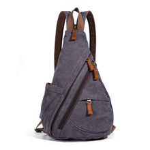 Canvas Crossbody Backpack Shoulder Casual Daypack Chest Bag for Outdoor Travel Rucksack Sport Sling Bag