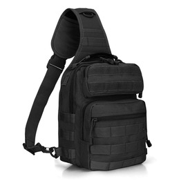 Fishing Tackle Shoulder Daypack Tactical Molle Chest Pack for Military Hiking Sling Bag