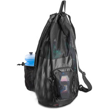 Mesh Swim Bag Scuba Dive Bags Swimming Equipment Bag with Shoulder Straps Drawstring