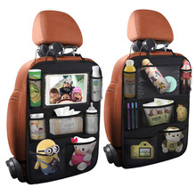 Kick Mat Seat Back Protector for Kids Vehicle Travel Accessories Backseat Storage Car Seat Organizer