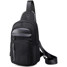 Sling Bag Mens Chest Shoulder Bag Functional Crossbody Backpack