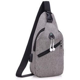 Canvas Sling Bag Shoulder Backpack Outdoor Travel Crossbody Pack