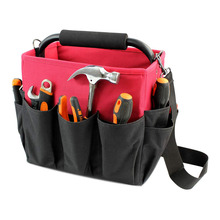 Storage Bucket Organizers Heavy Duty Stiff Frame Open Top Tool Organizer Box Tool Tote Bag